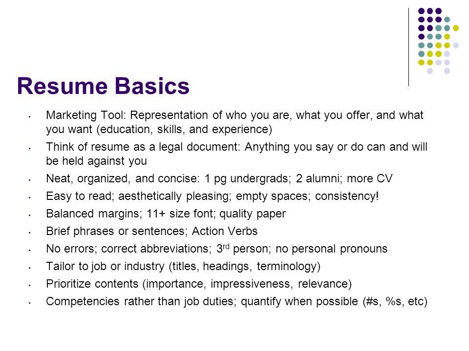 2 resume basics