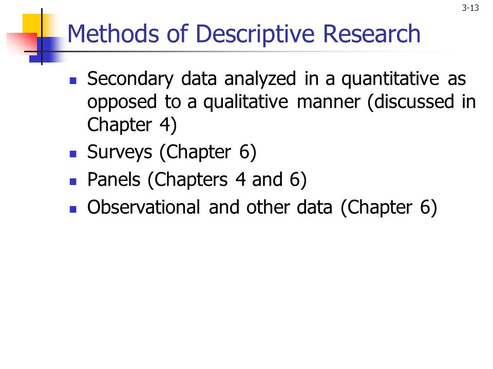 Types of Descriptive Research Methods