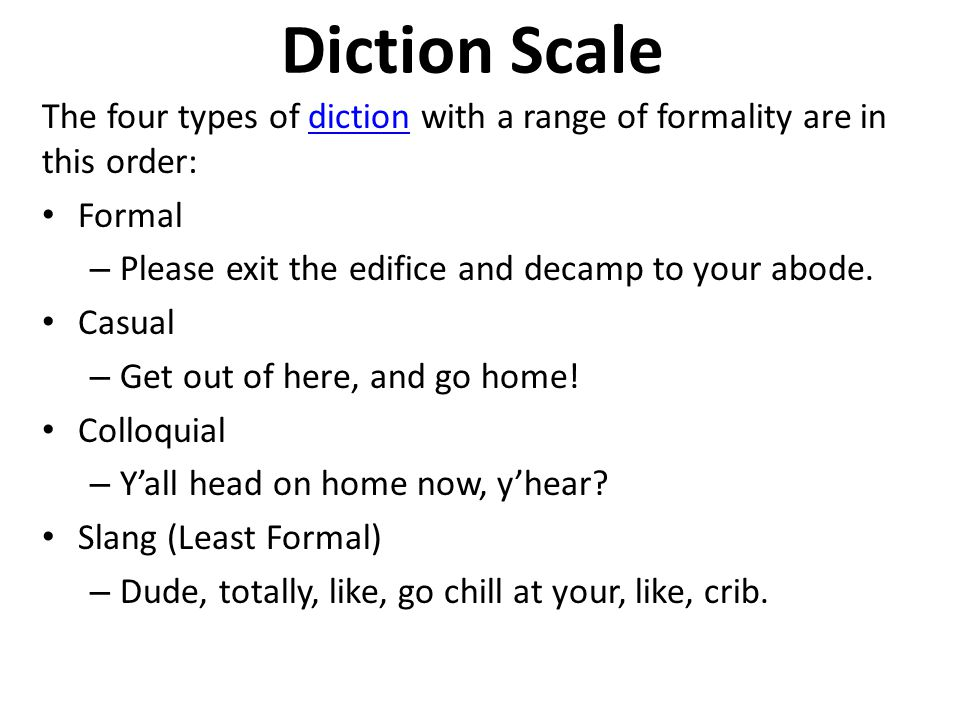 types of diction