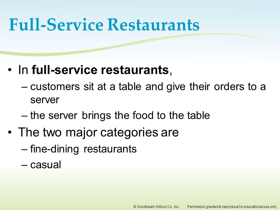 Full-Service Restaurants
