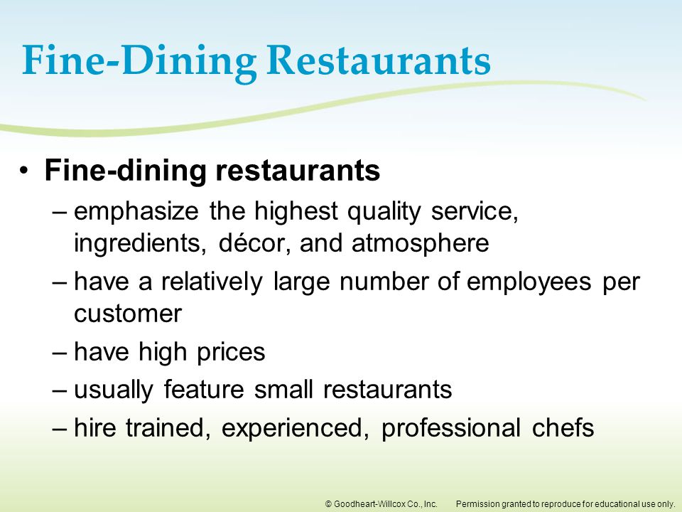 Fine-Dining Restaurants
