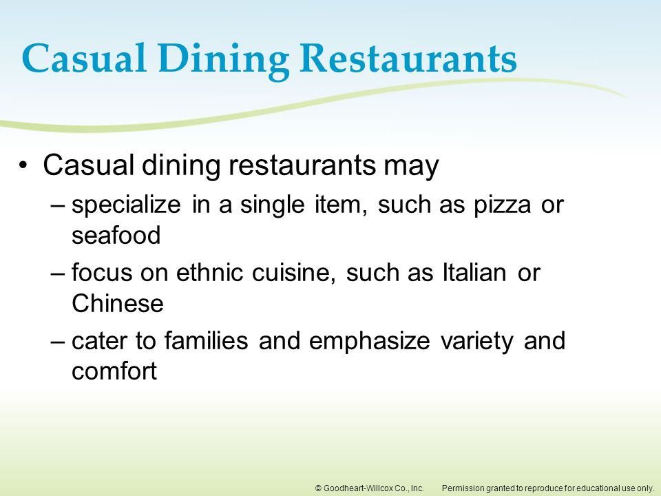 Casual Dining Restaurants