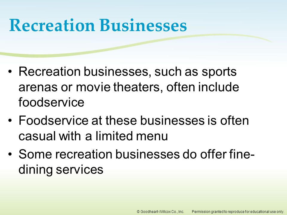 Recreation Businesses