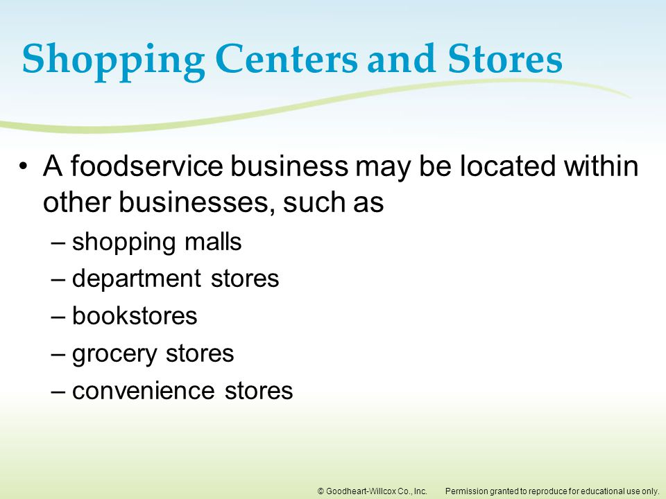 Shopping Centers and Stores