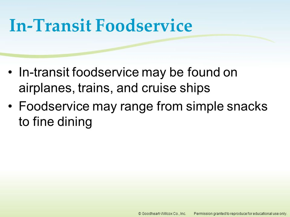In-Transit Foodservice