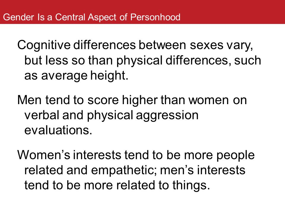 Gender Is a Central Aspect of Personhood