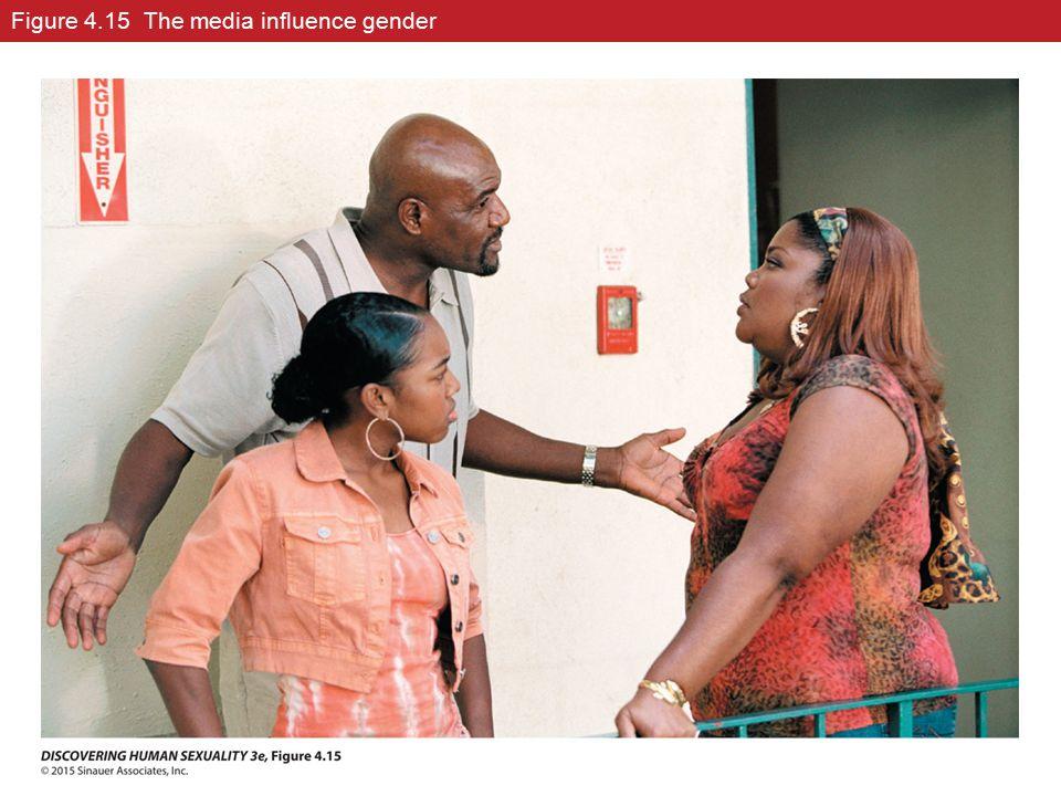 Figure 4.15 The media influence gender