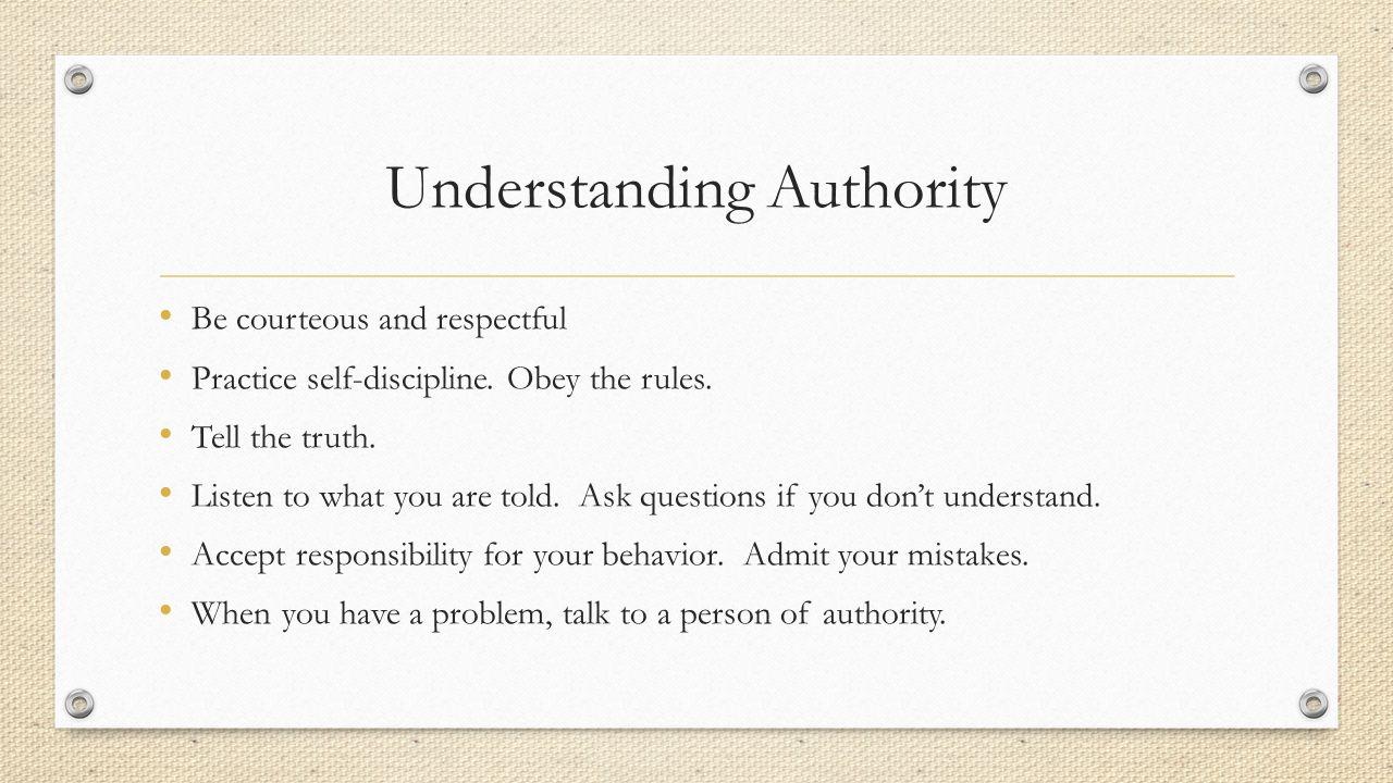 Understanding Authority