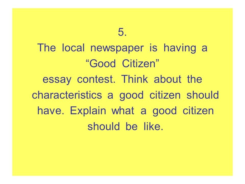 expository writing daily lessons ppt video online the local newspaper is having a good citizen