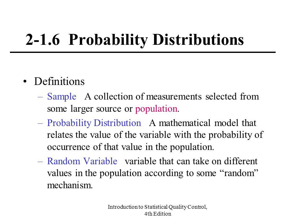 2-1.6 Probability Distributions