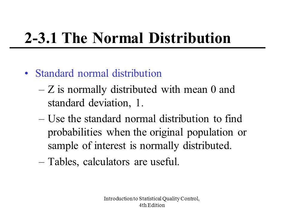 2-3.1 The Normal Distribution