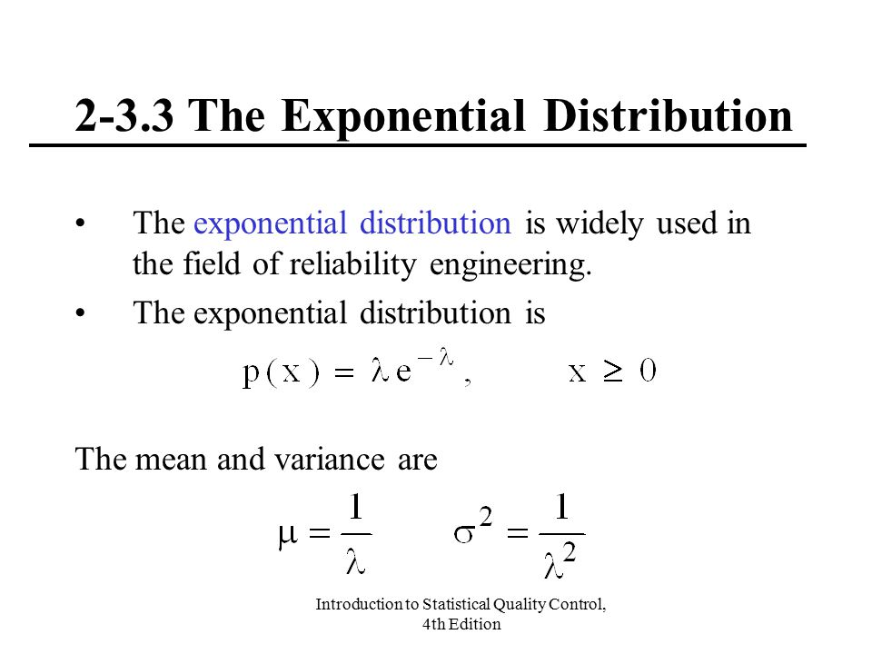 2-3.3 The Exponential Distribution