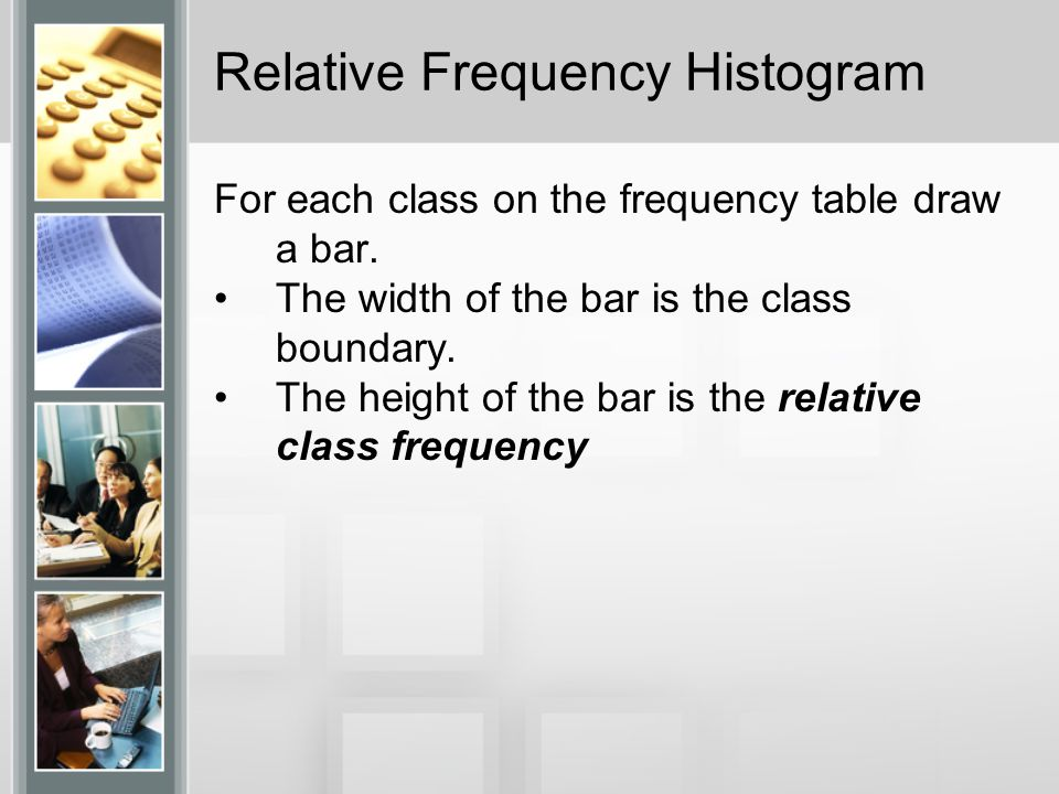 how to find relative frequency histogram