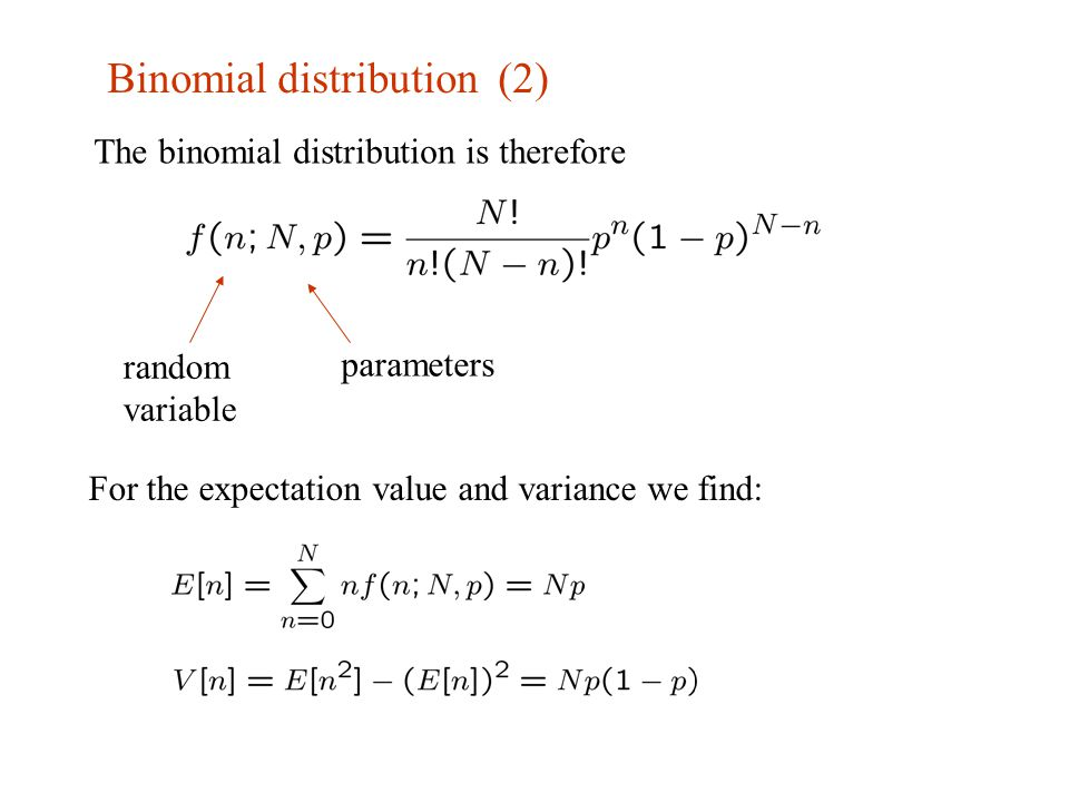 binomial distribution Use the free, online binomial calculator to compute individual and cumulative binomial probabilities for help in using the calculator, read the frequently-asked.