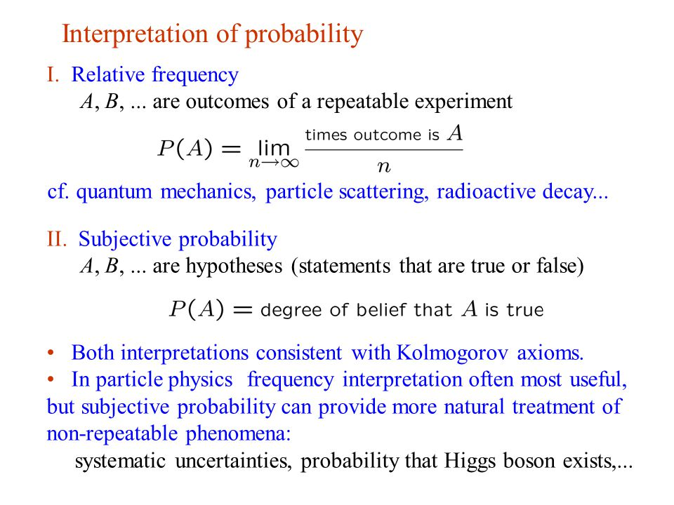 definition of probability in statistics pdf