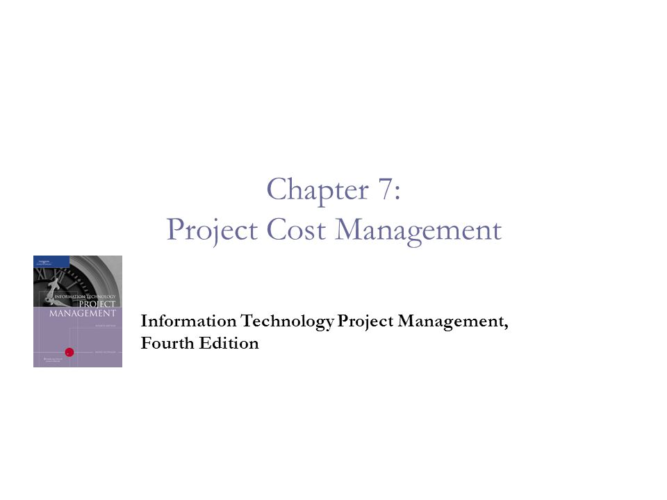 chapter 7 case project 7 1 Pmp chap 7 - project cost management - part 1 project cost management is a series of activities for estimating, allocating, and controlling costs within the pr.