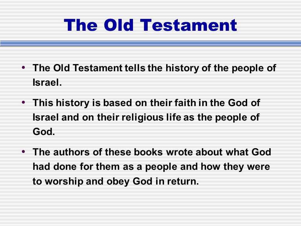 history of the old testament of the Old testament history in brief  for juniors prof hc hoeksema  adopted for use in the protestant reformed churches by the synod of 1961 foreword this book is designed for children of nine and ten years old, and is intended as a campion-book to that on the new testament by the rev g vandenberg moreover, its proper use requires that.