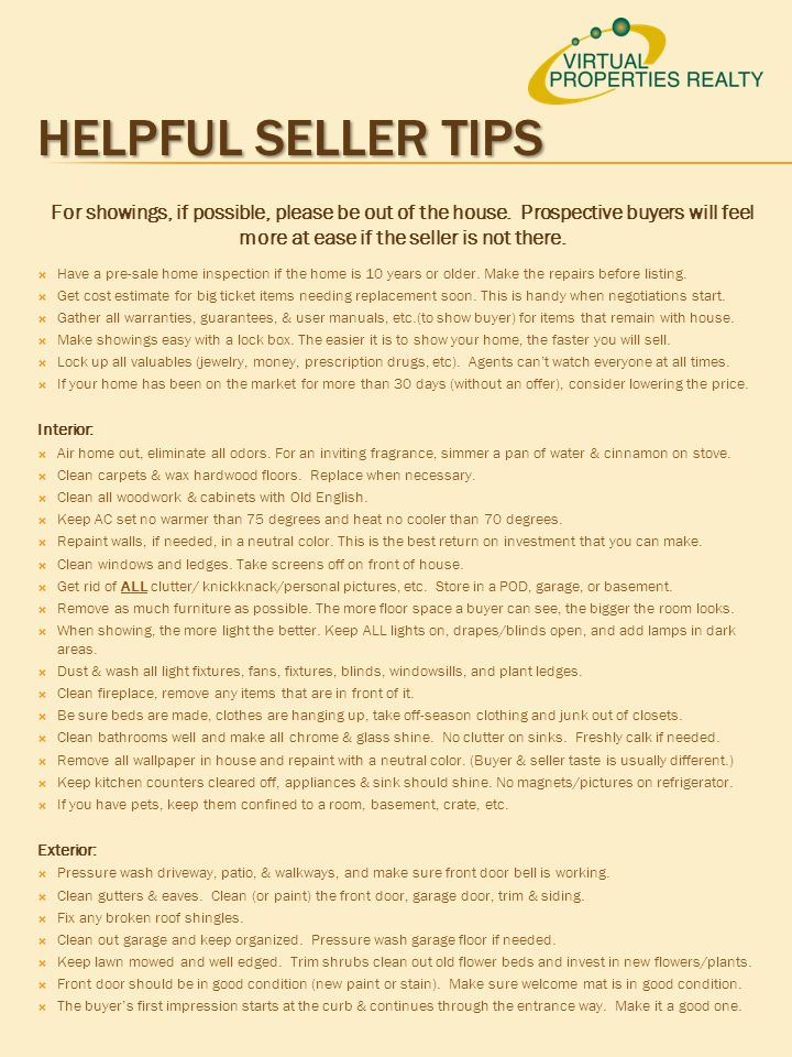 1 2 Pre Listing Template Instructions For Agent Use Ppt