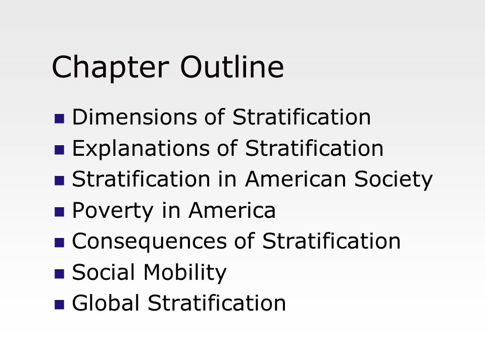 social stratification in america An essay or paper on social stratification in american society in american society, there is a belief that class differences do not matter and that social mobility is such that the sort of.