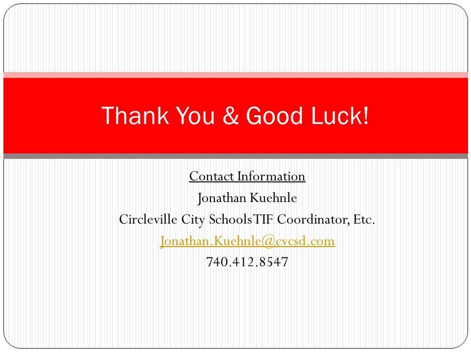 Circleville City Schools TIF Coordinator, Etc.