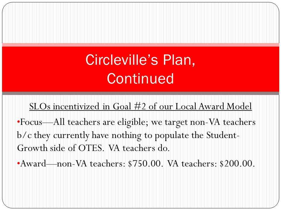 Circleville's Plan, Continued