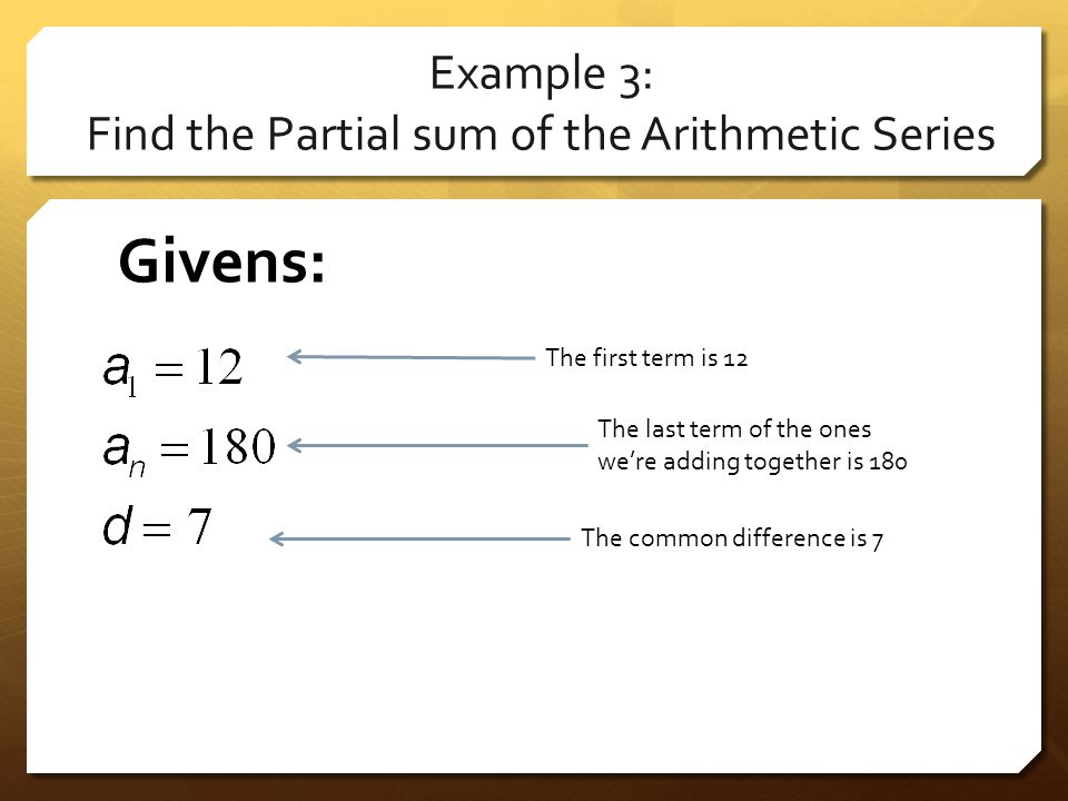 how to find the partial sum of a geometric series