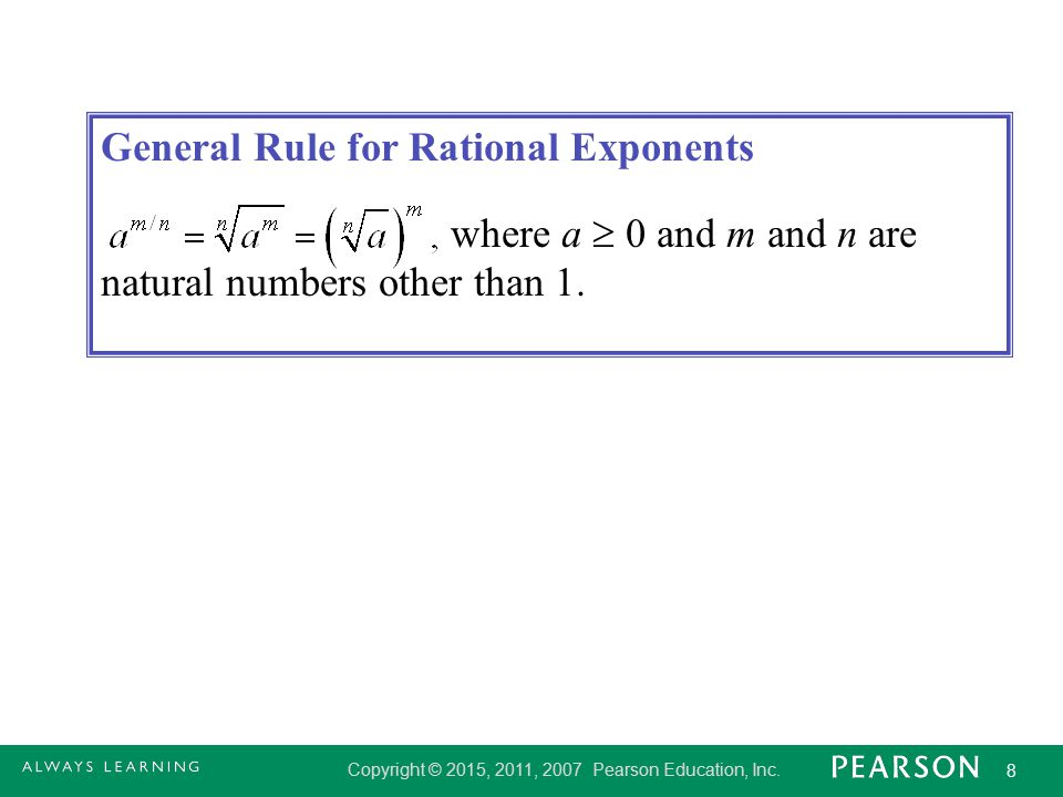 General Rule for Rational Exponents