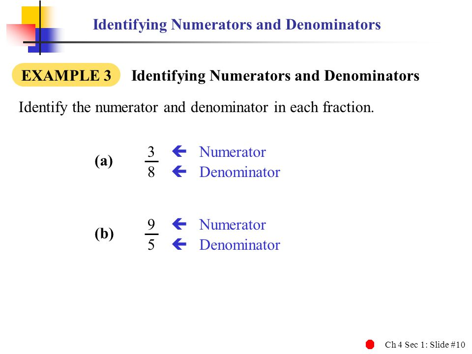 relationship of numerator and denominator