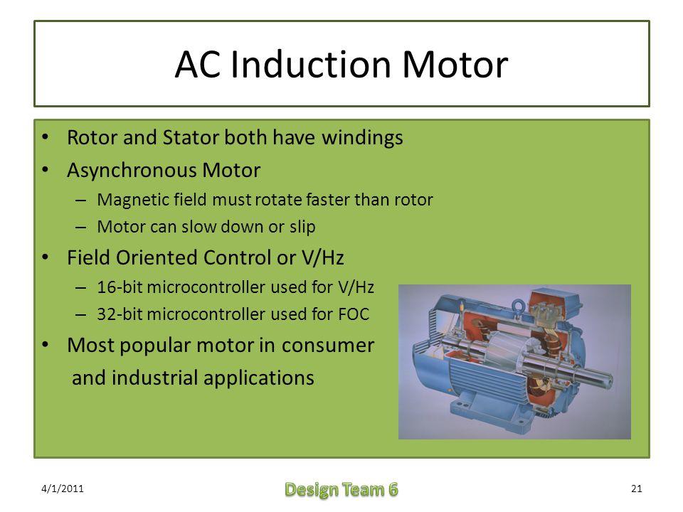 Msp430 motor controller applications ppt video online for Ac induction motor design