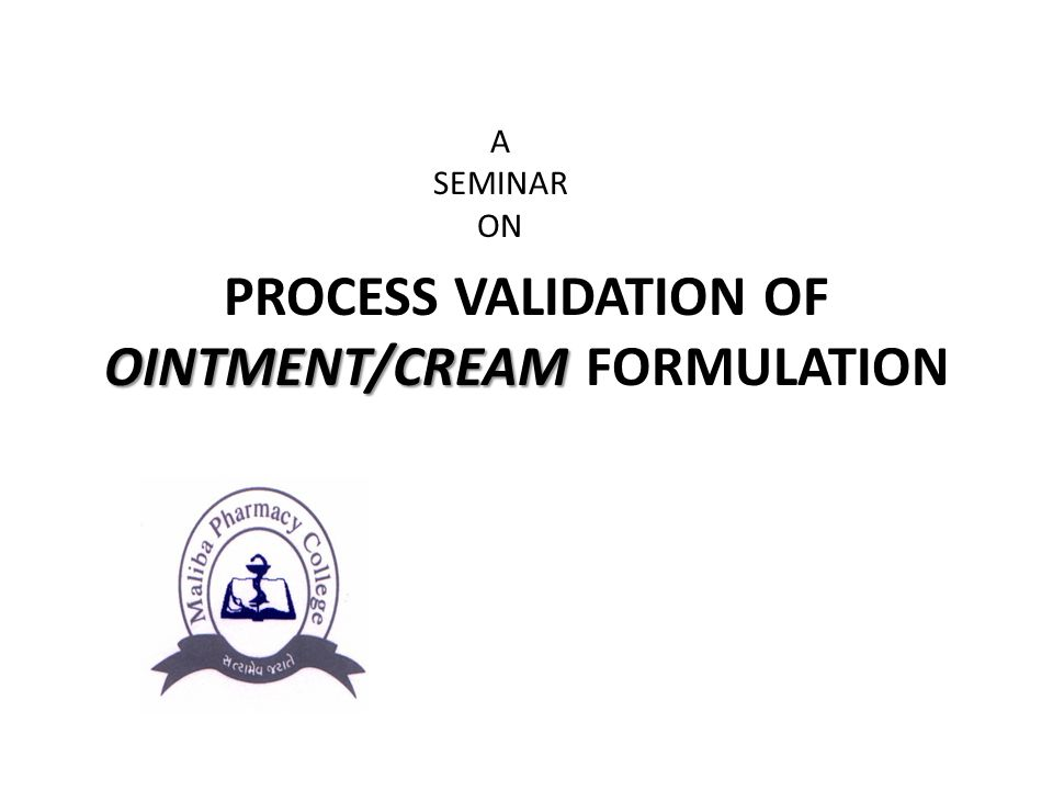 formulation of ointment and cream Influence of the formulation type (o/w, w/o/w emulsions and ointment) 347 minutes emulsification was carried out using an ultra turrax t-25® agitator at 25 ºc.
