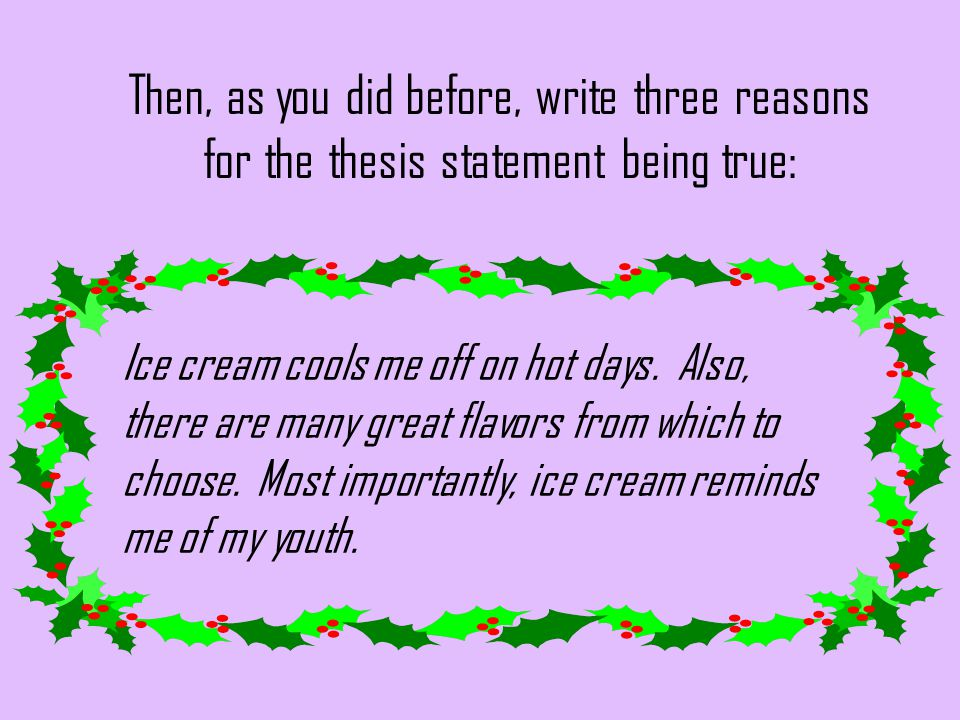 Essays on icecreams