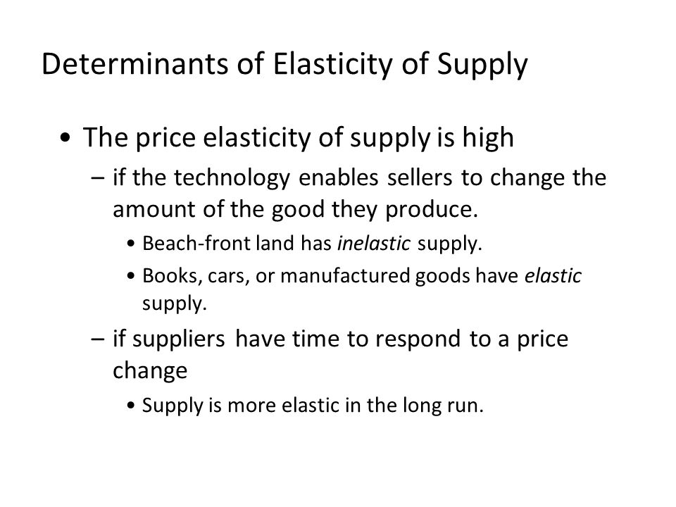 the price of elasticity of supply economics essay Assess the relevance of price elasticity of demand, income elasticity of demand, cross elasticity of demand and price elasticity of supply in explaining the effects of a worldwide recession and an increased fear of flying on the airline industry.