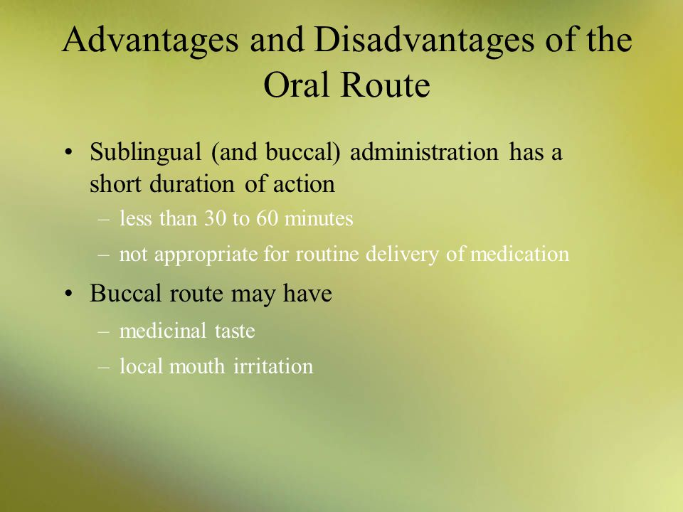 sublingual route of drug administration pdf
