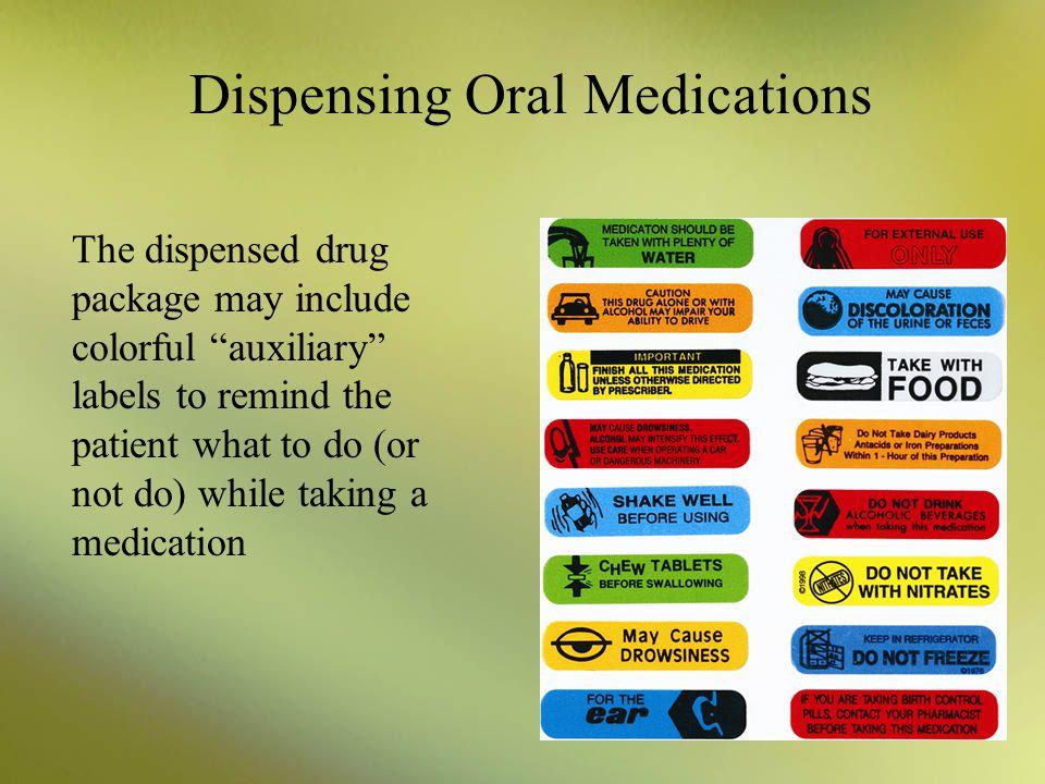 Dispensing Oral Medications