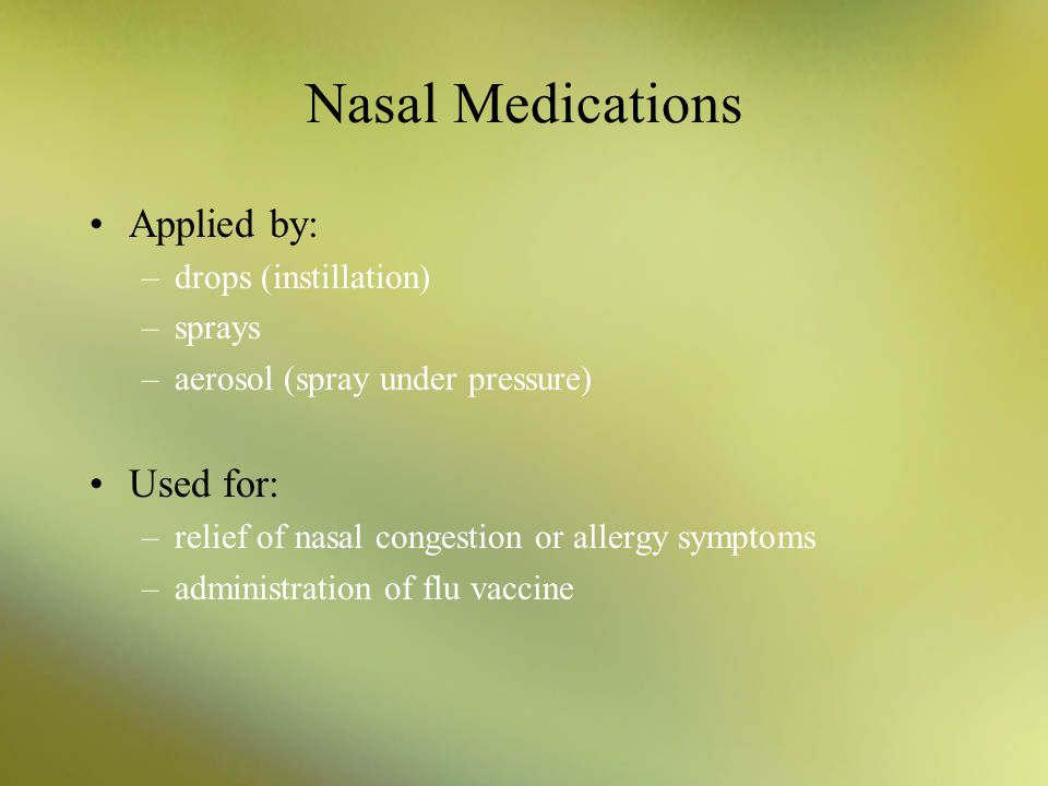steroid nasal sprays and cataracts