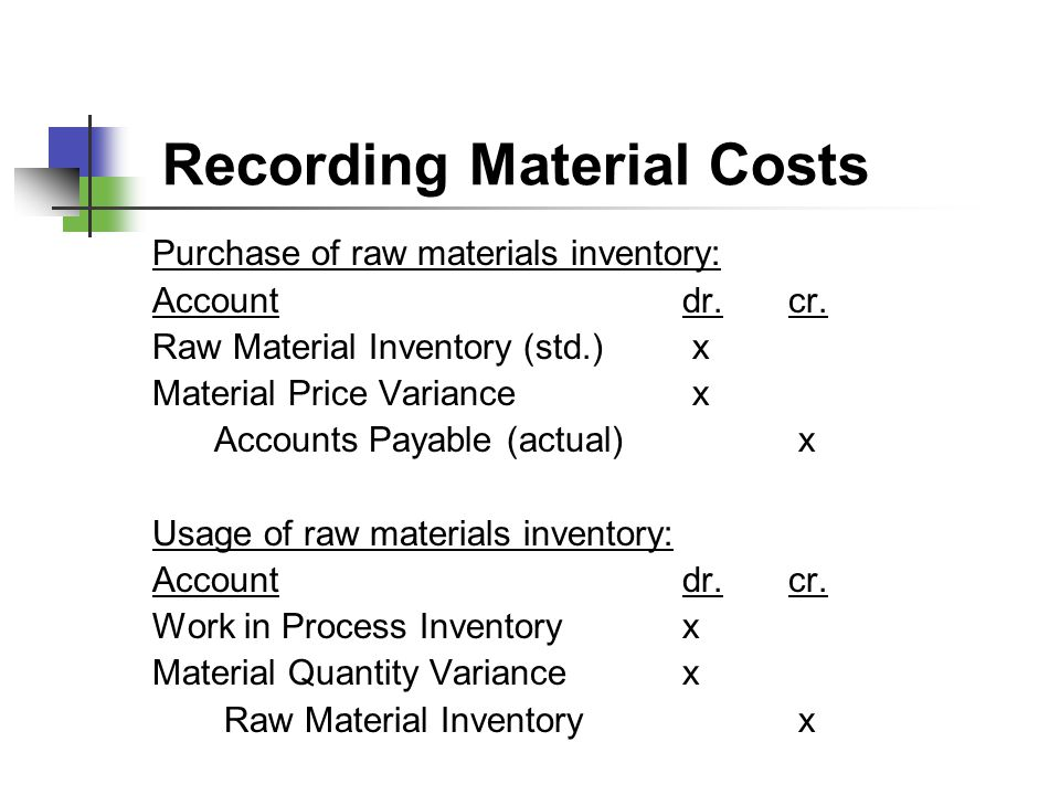 Recording Material Costs