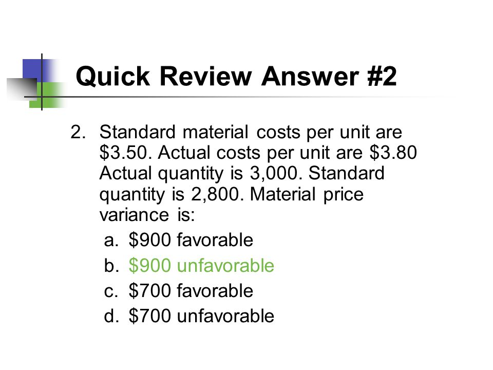 Quick Review Answer #2
