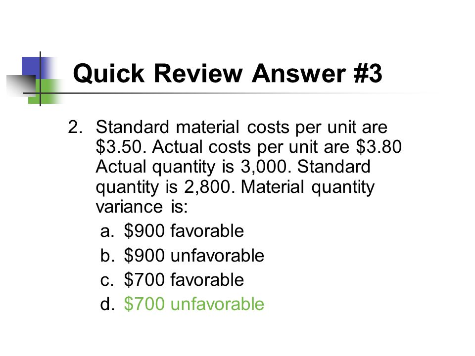 Quick Review Answer #3