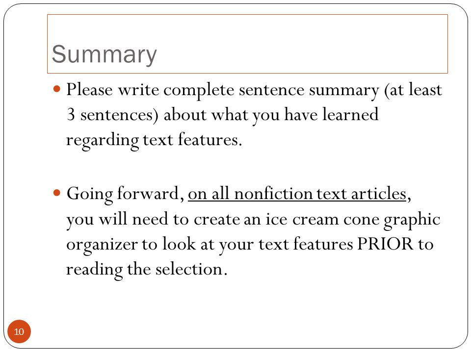 What is a good 2-3 sentence summary of