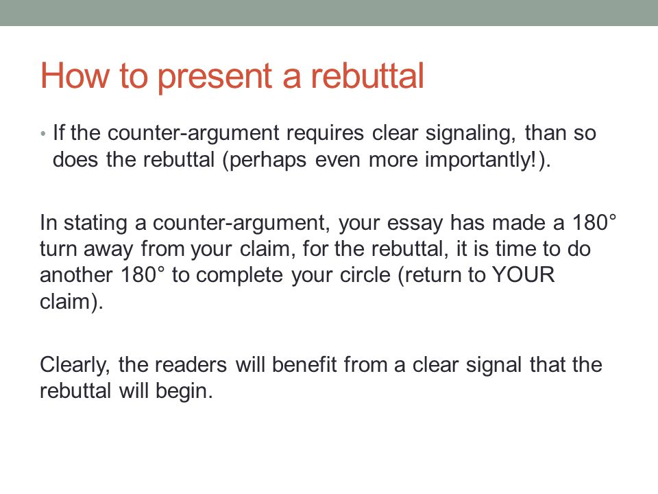 How to write a rebuttal letter template