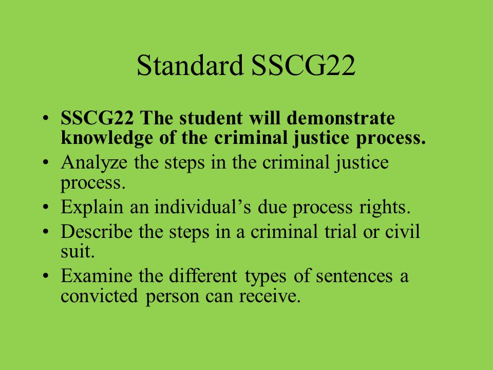 An introduction to the steps in the criminal justice process