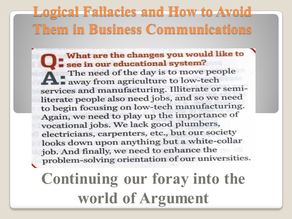 logical fallacy in journalism essay In our writing, we must learn to review the cause and effect essay section for additional help is stephen downes's guide to the logical fallacies.