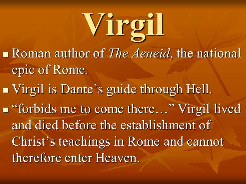 a comparison of virgils aeneid and dantes inferno The society depicted in dantes inferno is almost  dante incorporates virgils portrayal of hades from the aeneid  a comparison of the similarities and.