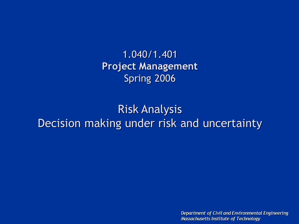 project risk and uncertainty Meaning of risk and uncertainty risk and uncertainty are  the risk associated with a project may be defined as the variability  risk and uncertainitydocx.