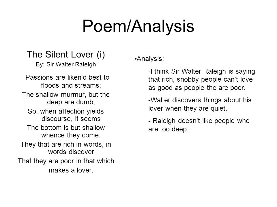 literary analysis of the poem hymn to Poetry analysis is the process of investigating a poem's form, content, structural semiotics and history in an informed way, with the aim of heightening one's own and.