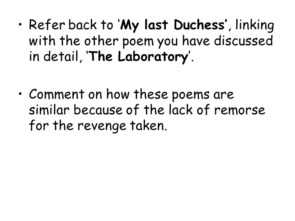 an analysis of the expression of emotions in robert brownings poem my last duchess My last duchess analysis my last duchess this poem is written by robert browning who the emissary voices a question about the expression on.