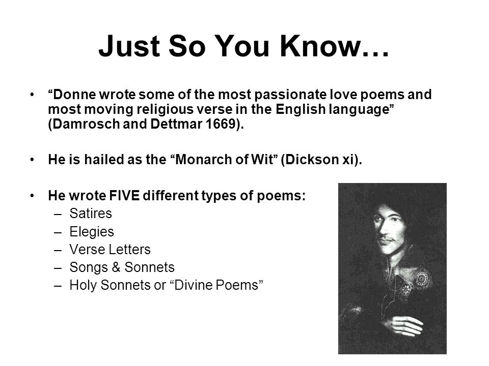the distinct characteristics of john donne poetry A study of the variety of views of love depicted in john donne's songs and  the  body and the soul are distinct, but related aspects of the totality of love  one of  donne's characteristics is that he freely contradicts himself from one poem to.