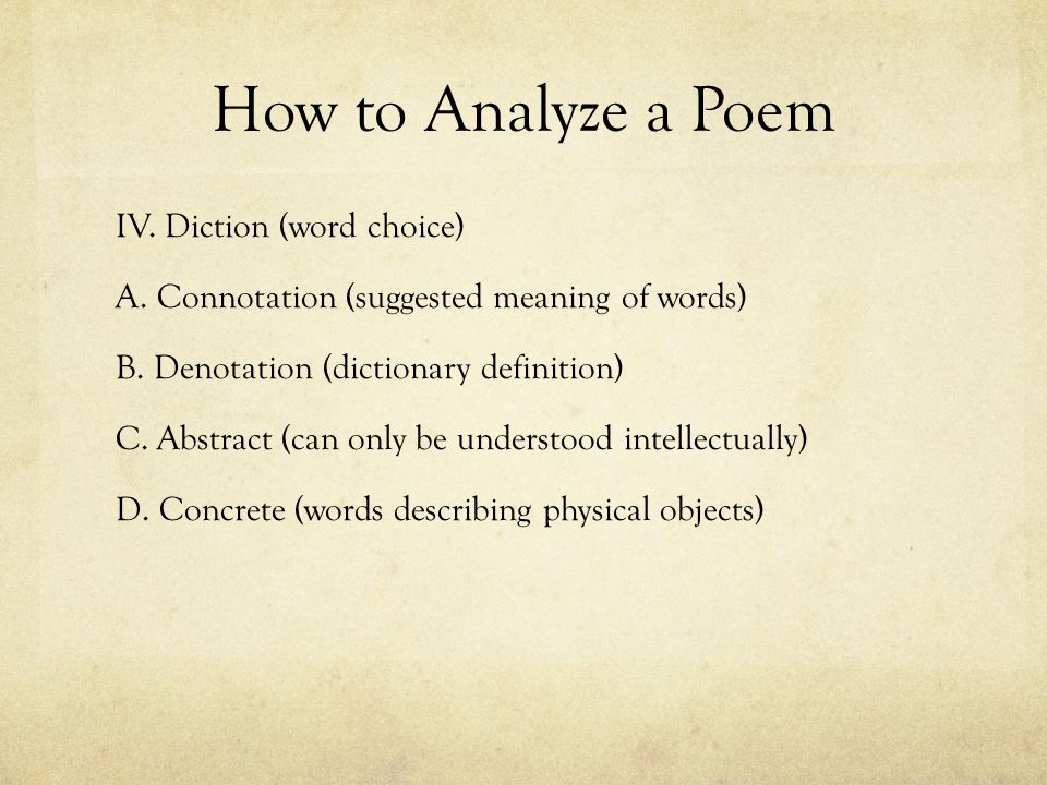 an analysis of a definition of poetry In the interpretation, you bring together your analysis of the elements in the poem and show what they mean to the poem as a whole you may suggest an interpretation of the speaker's state of mind, the poem's subject, or the nature of the experience which the poem creates.