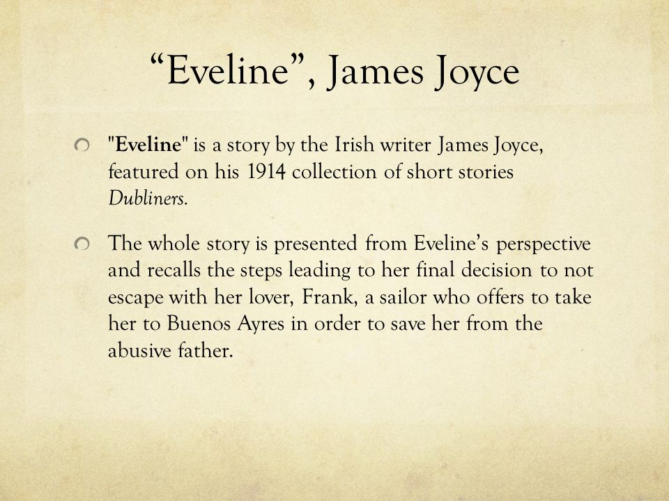 "read george orwell essays James Joyce's ""Eveline"" Analysis"