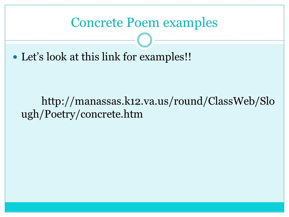 create a concrete poem online dating